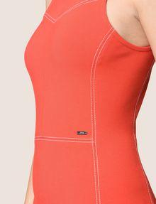 ARMANI EXCHANGE SEAMED TOPSTITCH BODYCON DRESS Mini dress Woman b