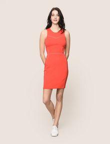 ARMANI EXCHANGE SEAMED TOPSTITCH BODYCON DRESS Mini dress Woman d