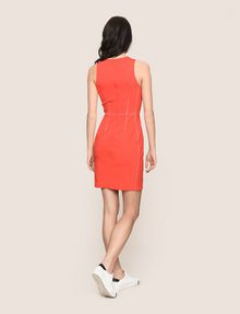 ARMANI EXCHANGE SEAMED TOPSTITCH BODYCON DRESS Mini dress Woman e