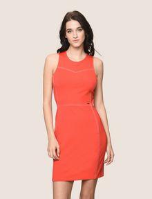 ARMANI EXCHANGE SEAMED TOPSTITCH BODYCON DRESS Mini dress Woman f