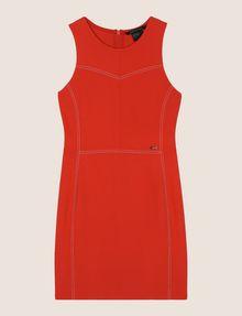 ARMANI EXCHANGE SEAMED TOPSTITCH BODYCON DRESS Mini dress Woman r