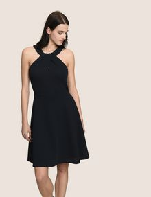ARMANI EXCHANGE WRAP JACQUARD FIT-AND-FLARE Mini dress [*** pickupInStoreShipping_info ***] f