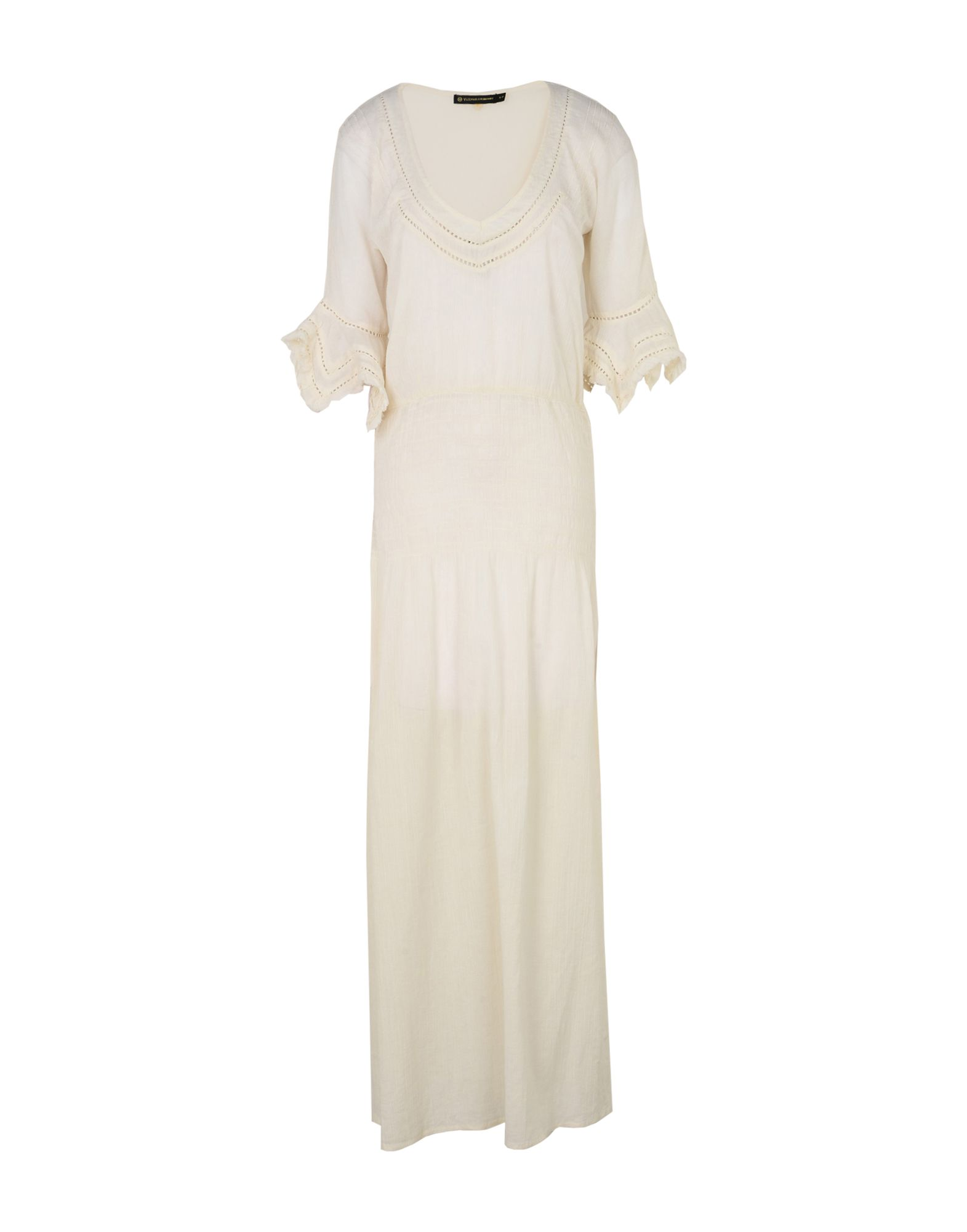 《送料無料》VIX PAULA HERMANNY レディース ロングワンピース&ドレス アイボリー S コットン 100%