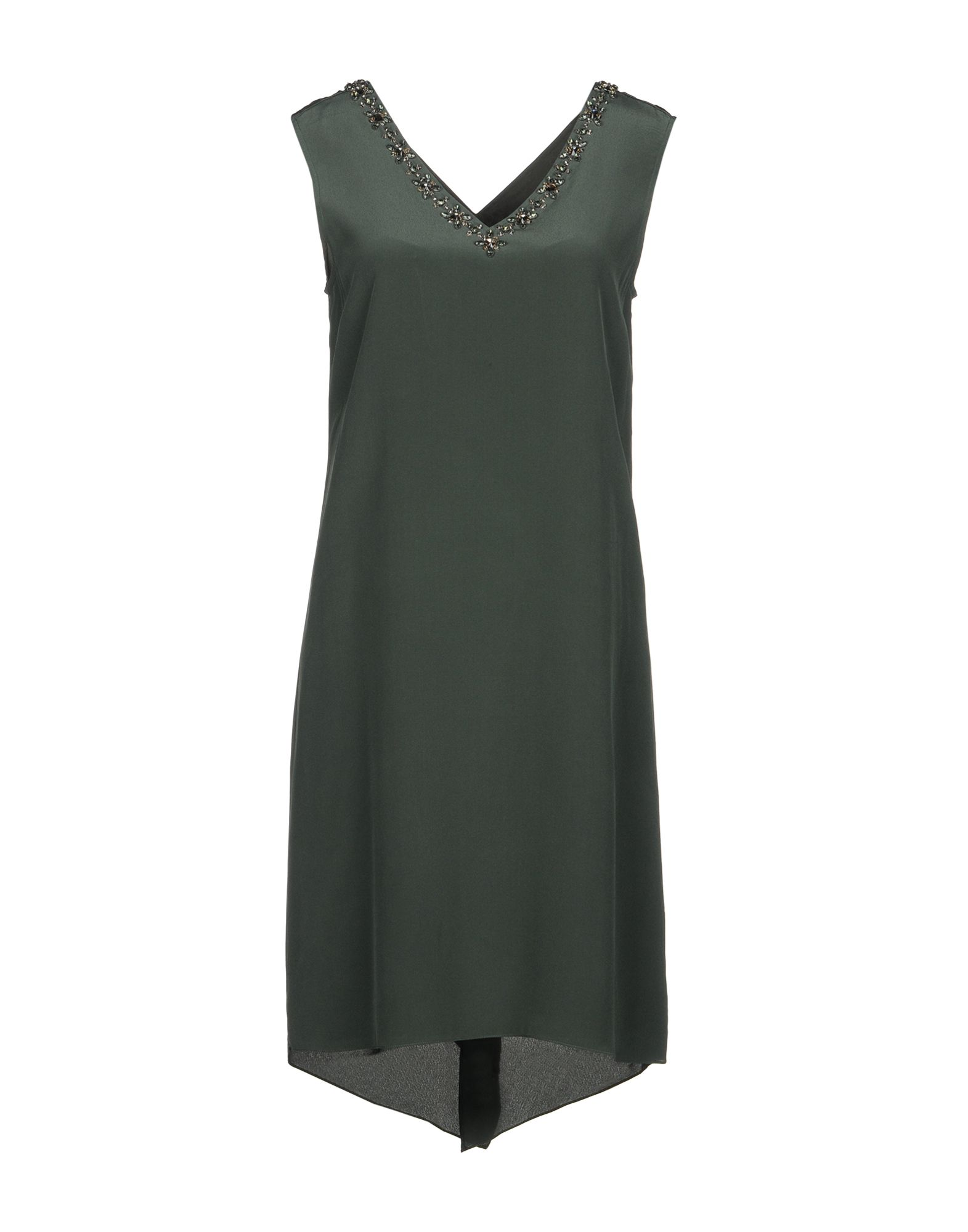 MAGASCHONI Short Dress in Military Green