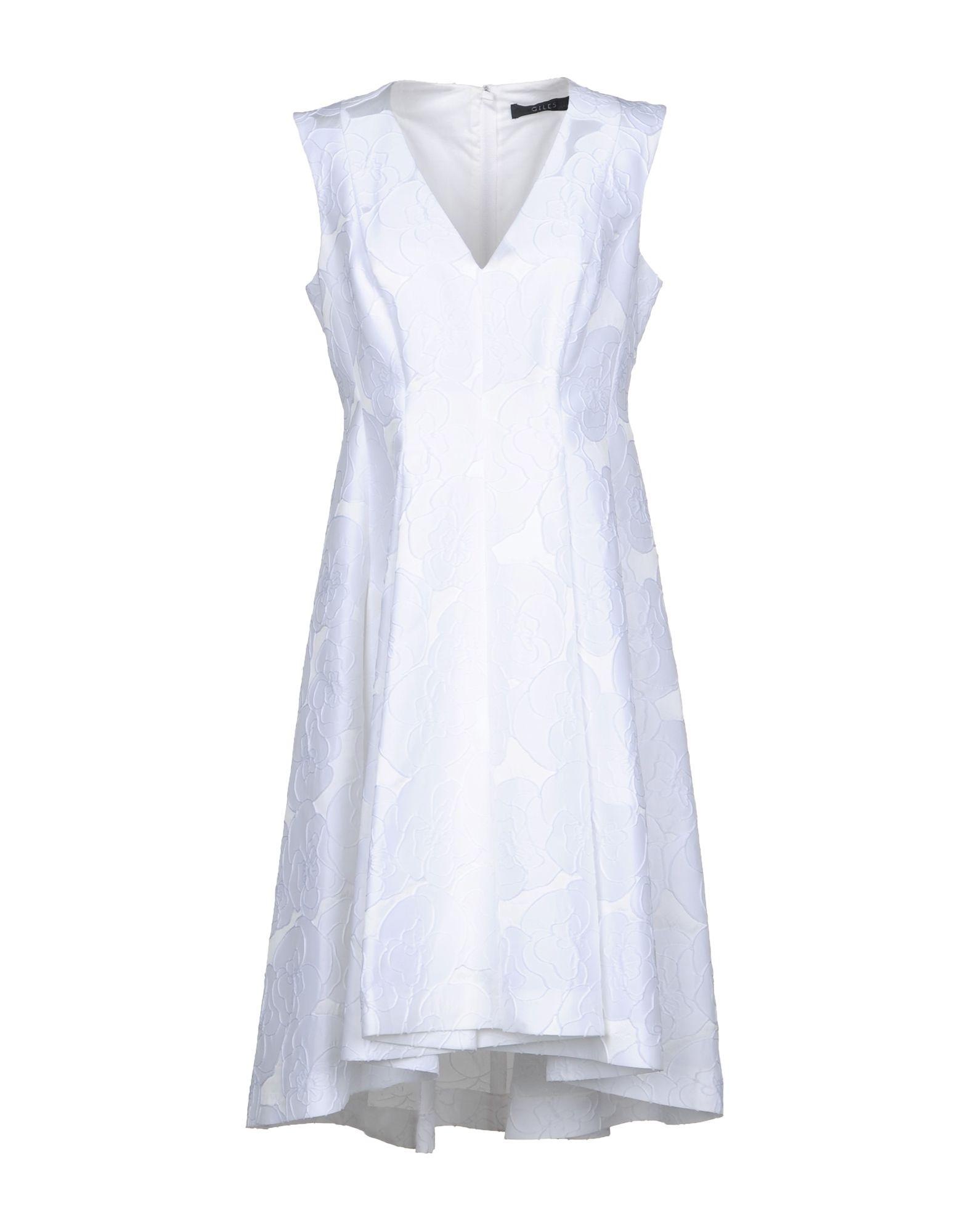 цена GILES Платье до колена онлайн в 2017 году