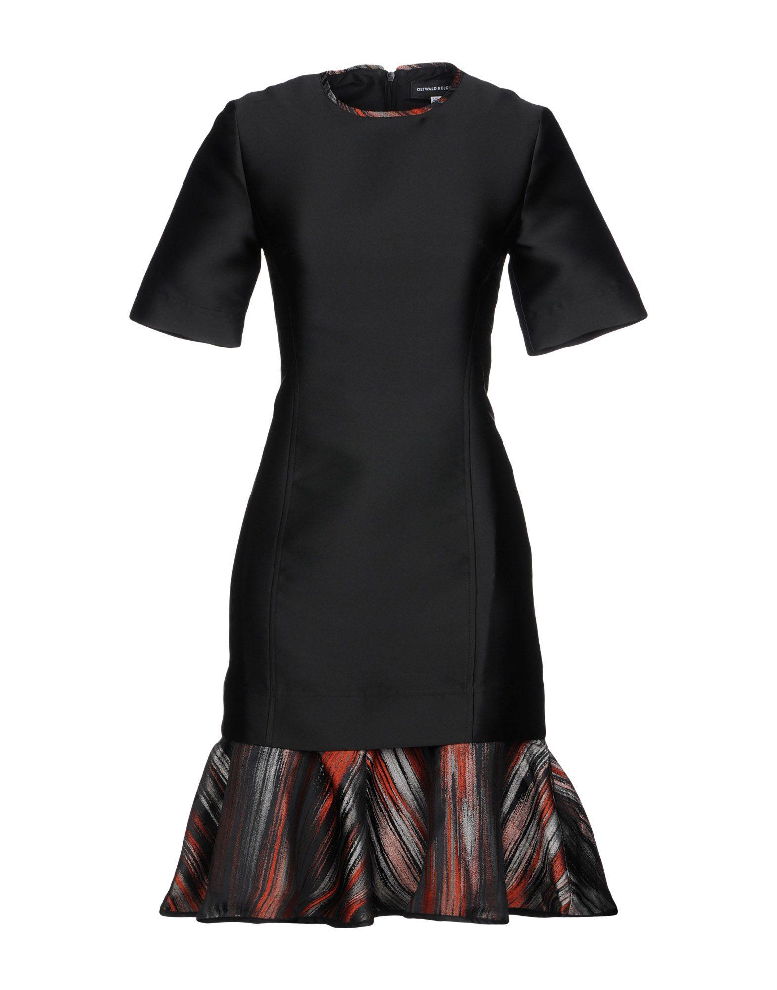 OSTWALD HELGASON Short Dress in Black
