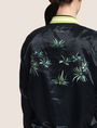 ARMANI EXCHANGE BOTANICAL EMBROIDERED SATIN BOMBER Jacket Woman b