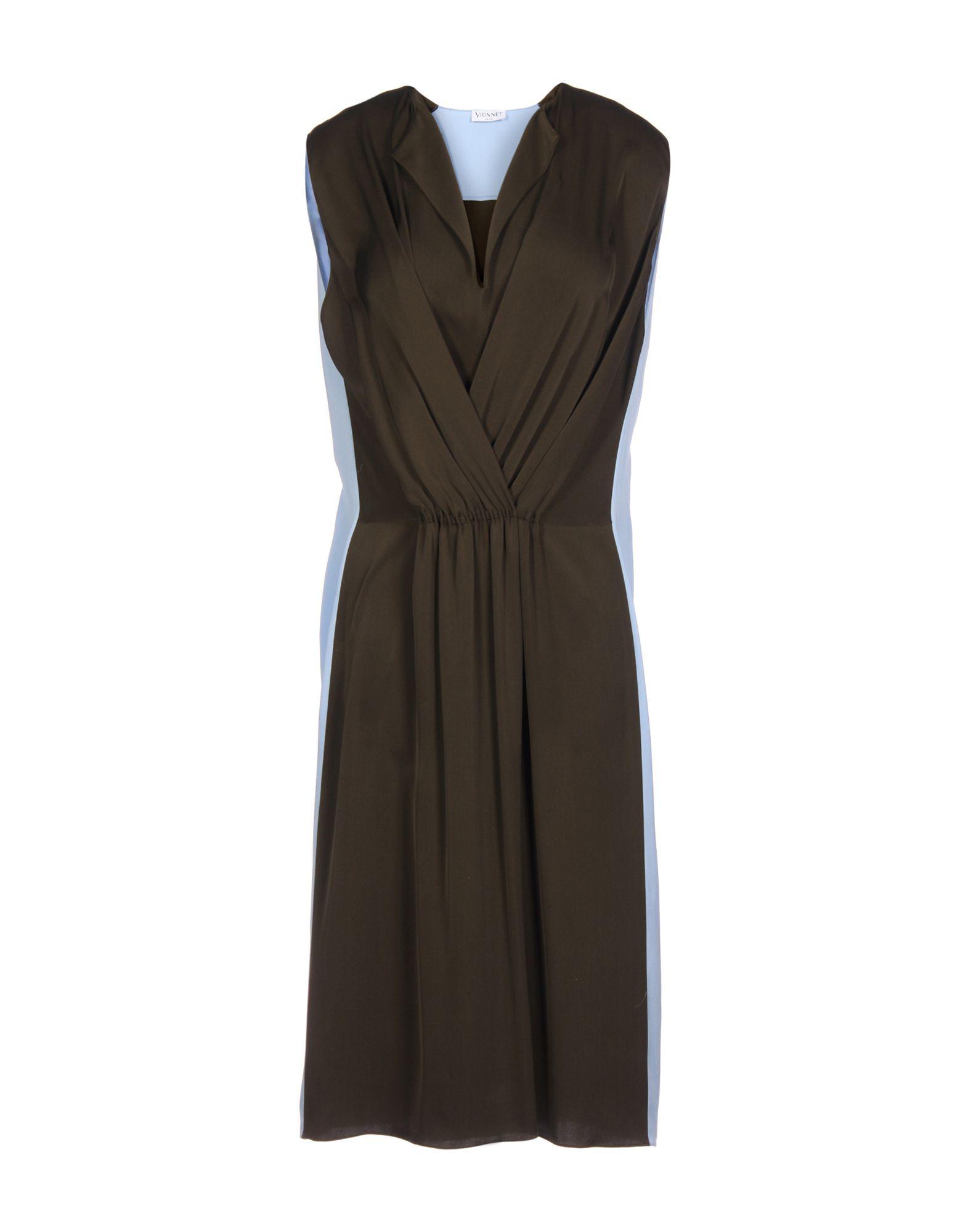 VIONNET Платье до колена vionnet накидка