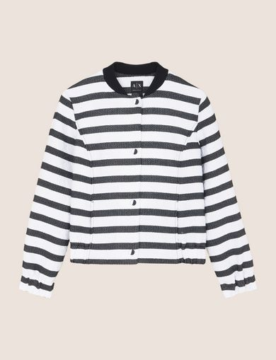 STRIPED JACQUARD BOMBER JACKET