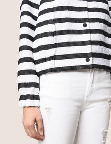 ARMANI EXCHANGE STRIPED JACQUARD BOMBER JACKET Jacket Woman b