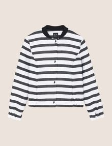 ARMANI EXCHANGE STRIPED JACQUARD BOMBER JACKET Jacket Woman r