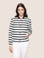 ARMANI EXCHANGE STRIPED JACQUARD BOMBER JACKET Jacket Woman f
