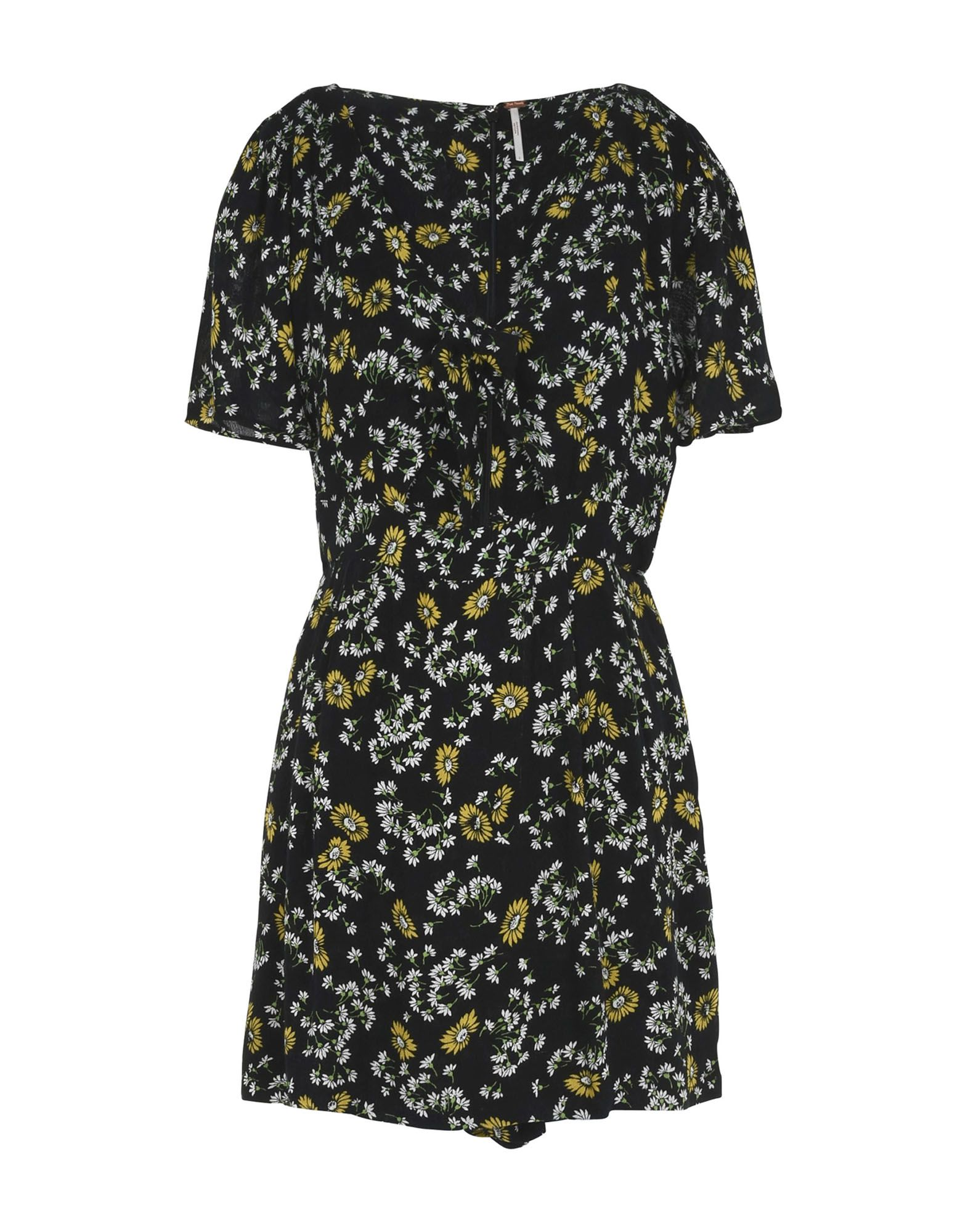 FREE PEOPLE Damen Kurzes Kleid Farbe Schwarz Größe 5