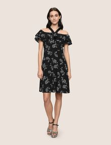 ARMANI EXCHANGE TIERED RUFFLE OFF-THE-SHOULDER DRESS Mini dress Woman d