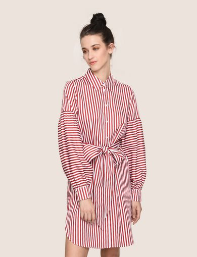 BALLOON-SLEEVE SHIRTDRESS