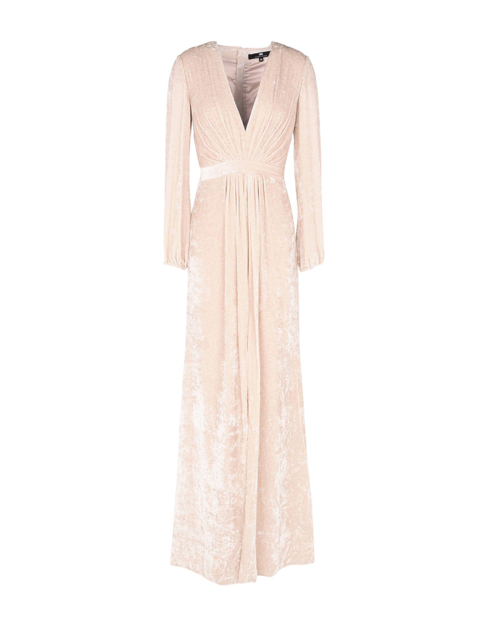 ELISABETTA FRANCHI Длинное платье платье короткое спереди длинное сзади летнее