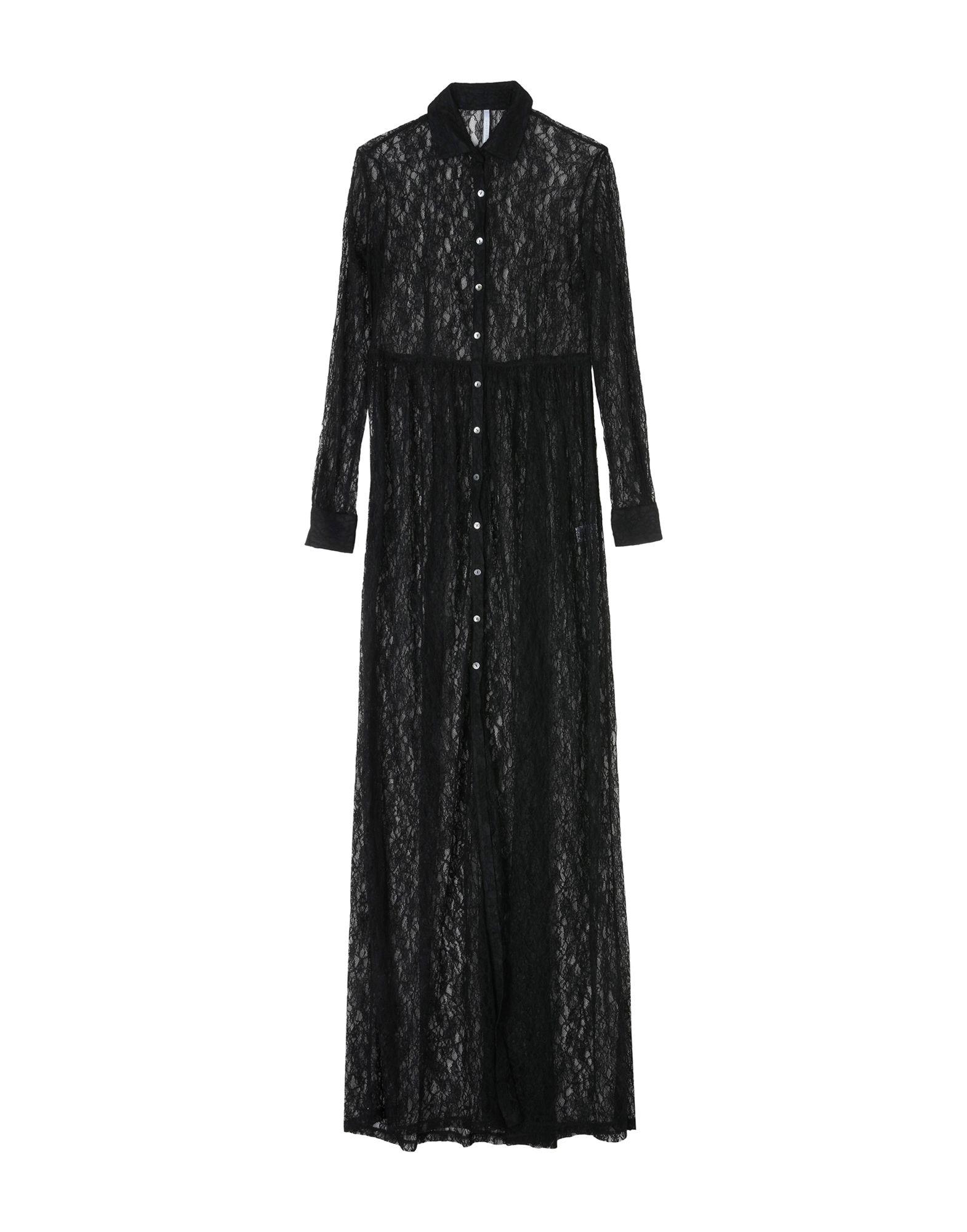 ALCOOLIQUE Длинное платье alcoolique рубашка в клетку с рюшами
