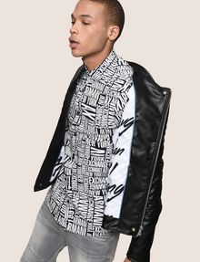 ARMANI EXCHANGE DIAMOND-QUILTED MOTO JACKET PU [*** pickupInStoreShippingNotGuaranteed_info ***] a