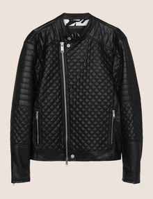 ARMANI EXCHANGE DIAMOND-QUILTED MOTO JACKET PU [*** pickupInStoreShippingNotGuaranteed_info ***] r