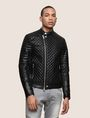 ARMANI EXCHANGE DIAMOND-QUILTED MOTO JACKET PU Man f