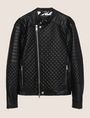 ARMANI EXCHANGE DIAMOND-QUILTED MOTO JACKET PU Man r