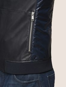 ARMANI EXCHANGE NYLON INSET LEATHER BOMBER Leather Man b