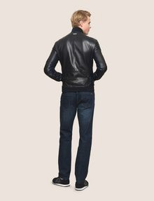 ARMANI EXCHANGE NYLON INSET LEATHER BOMBER Leather Man e