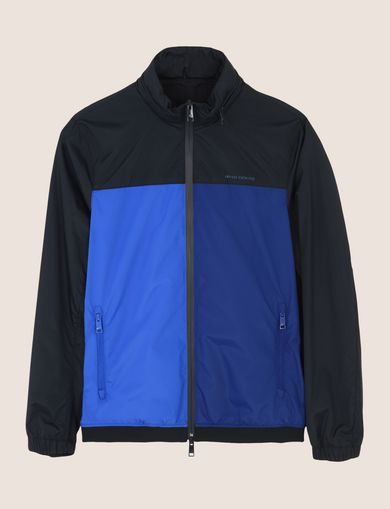 HOODED COLORBLOCK WINDBREAKER
