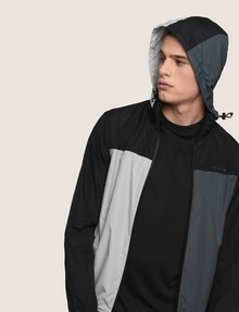 ARMANI EXCHANGE HOODED COLORBLOCK WINDBREAKER Jacket Man a