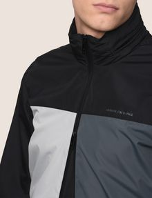 ARMANI EXCHANGE HOODED COLORBLOCK WINDBREAKER Jacket Man b