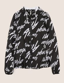 ARMANI EXCHANGE LOGO SCRIPT PACKABLE WINDBREAKER Jacket [*** pickupInStoreShippingNotGuaranteed_info ***] r