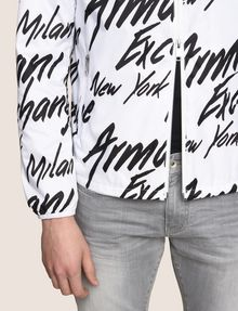 ARMANI EXCHANGE LOGO SCRIPT PACKABLE WINDBREAKER Jacket [*** pickupInStoreShippingNotGuaranteed_info ***] b