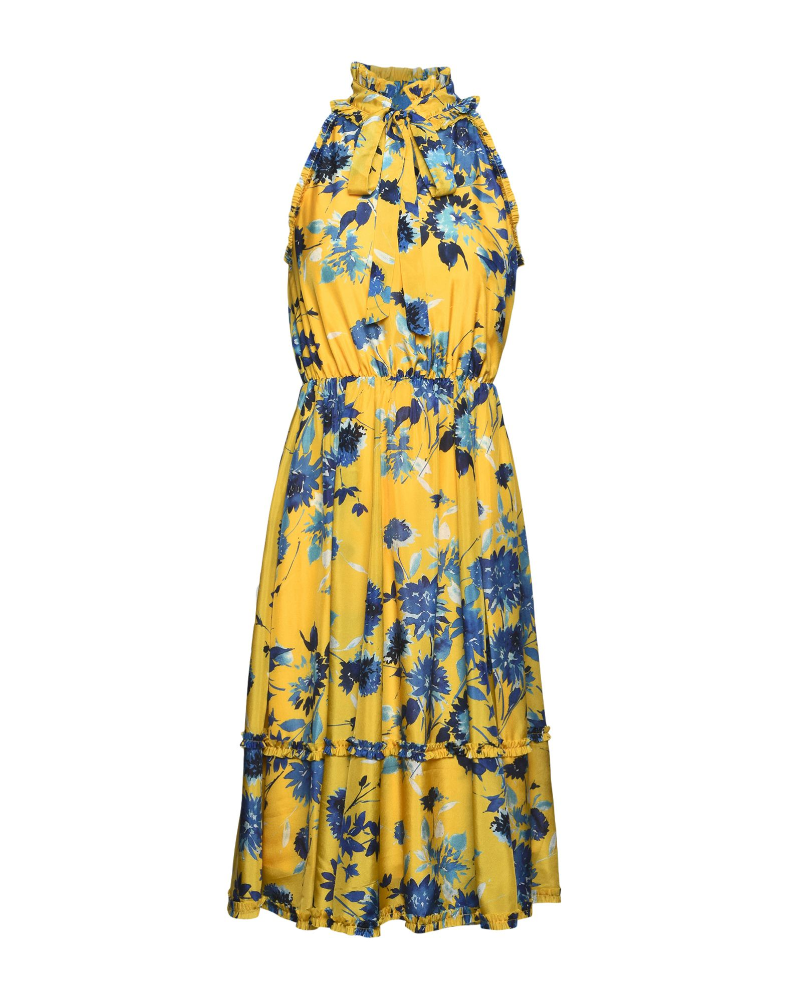 JOLIE by EDWARD SPIERS Damen Knielanges Kleid Farbe Gelb Größe 6