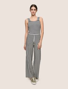 f3eef70ad23b Armani Exchange DIRECTIONAL STRIPE PONTE JUMPSUIT