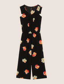 ARMANI EXCHANGE ABSTRACT FLORAL PLEATED JUMPSUIT Jumpsuits Woman r