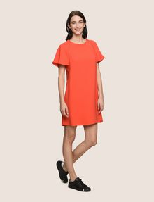 ARMANI EXCHANGE FLUTTER-SLEEVE EYELET TEE DRESS Mini dress [*** pickupInStoreShipping_info ***] d