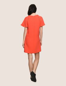 ARMANI EXCHANGE FLUTTER-SLEEVE EYELET TEE DRESS Mini dress [*** pickupInStoreShipping_info ***] e