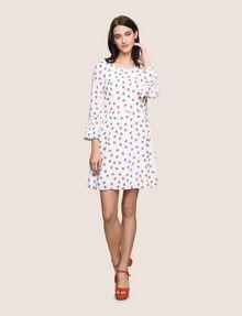 ARMANI EXCHANGE FLORAL BELL-SLEEVE DRESS Mini dress Woman d