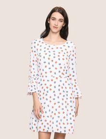 ARMANI EXCHANGE FLORAL BELL-SLEEVE DRESS Mini dress Woman f