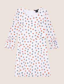 ARMANI EXCHANGE FLORAL BELL-SLEEVE DRESS Mini dress Woman r