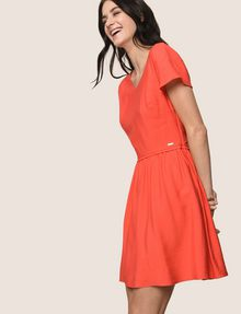 ARMANI EXCHANGE CROSS-BACK FIT-AND-FLARE DRESS Mini dress Woman a