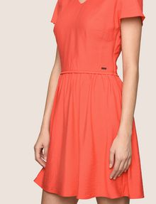 ARMANI EXCHANGE CROSS-BACK FIT-AND-FLARE DRESS Mini dress Woman b