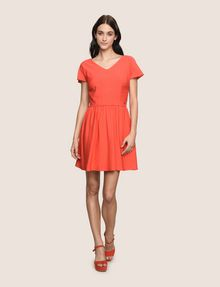 ARMANI EXCHANGE CROSS-BACK FIT-AND-FLARE DRESS Mini dress Woman d