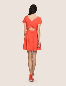 ARMANI EXCHANGE CROSS-BACK FIT-AND-FLARE DRESS Mini dress Woman e