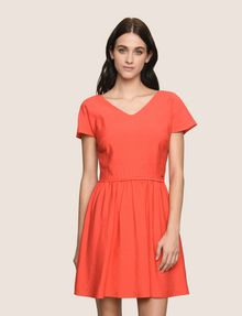 ARMANI EXCHANGE CROSS-BACK FIT-AND-FLARE DRESS Mini dress Woman f