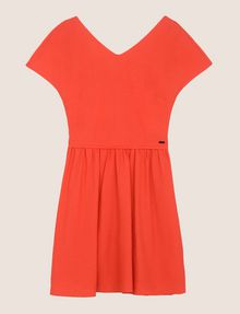 ARMANI EXCHANGE CROSS-BACK FIT-AND-FLARE DRESS Mini dress Woman r