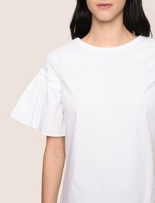 ARMANI EXCHANGE POPLIN PLEATED-SLEEVE TEE DRESS Mini dress Woman b