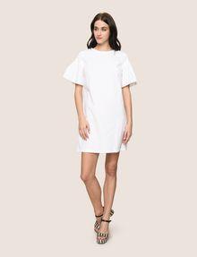 ARMANI EXCHANGE POPLIN PLEATED-SLEEVE TEE DRESS Mini dress Woman d
