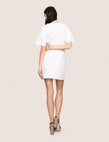 ARMANI EXCHANGE POPLIN PLEATED-SLEEVE TEE DRESS Mini dress Woman e