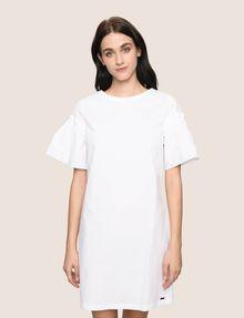 ARMANI EXCHANGE POPLIN PLEATED-SLEEVE TEE DRESS Mini dress Woman f